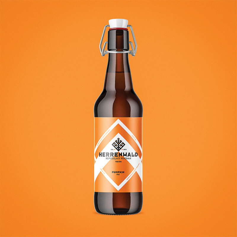 Beer label, packaging design - PUMPKIN for HERRENWALD craft brewery