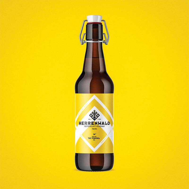 Beer label, packaging design - TAJ MAHAL for HERRENWALD craft brewery