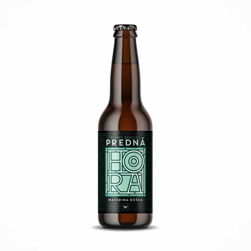 Beer label packaging design craft beer Materina dúška Predná Hora