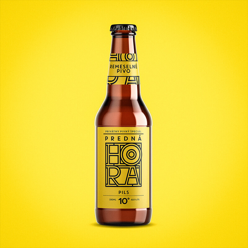Beer label packaging design craft beer PILS Predná Hora