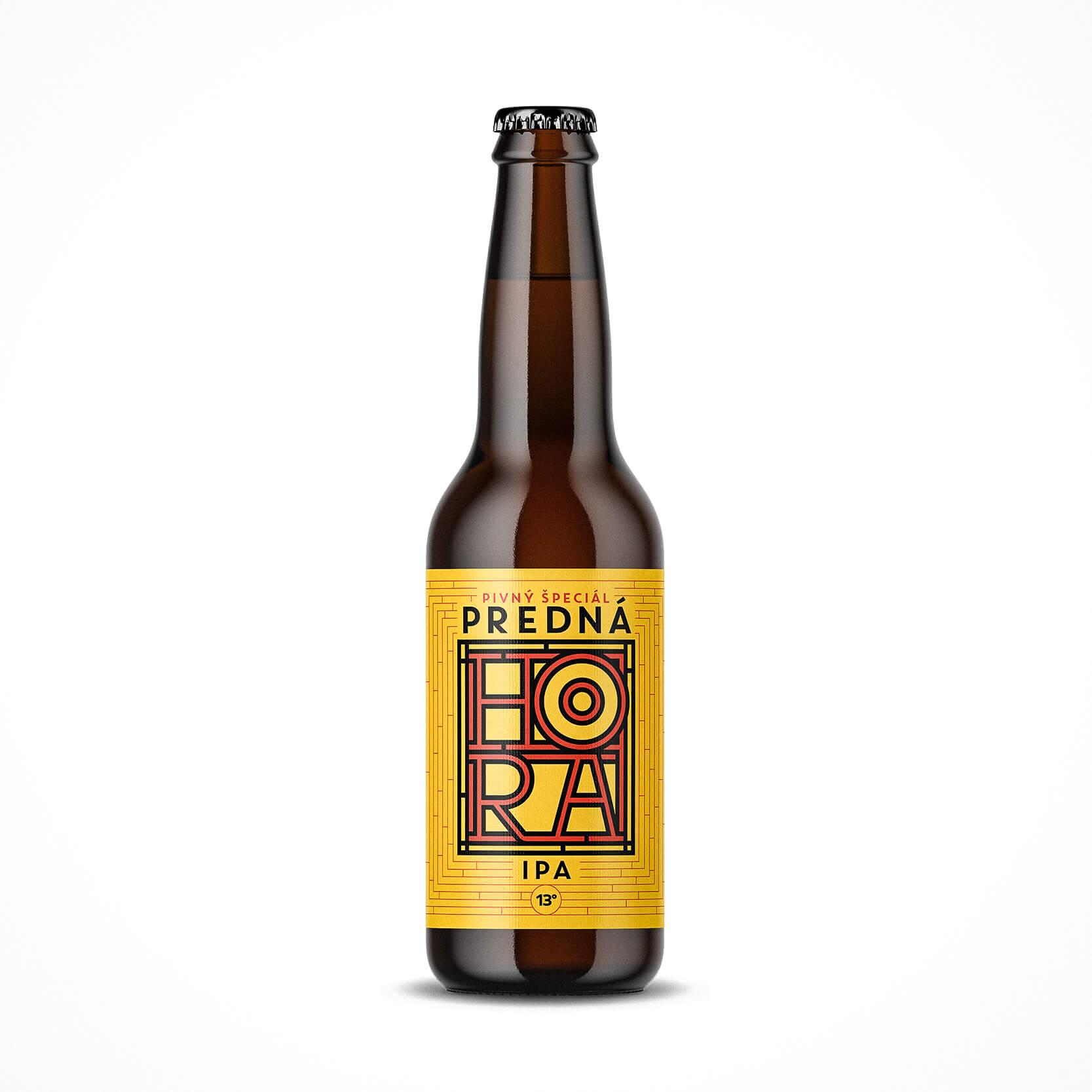 Etiketa na pivo, obalový dizajn IPA Predná Hora