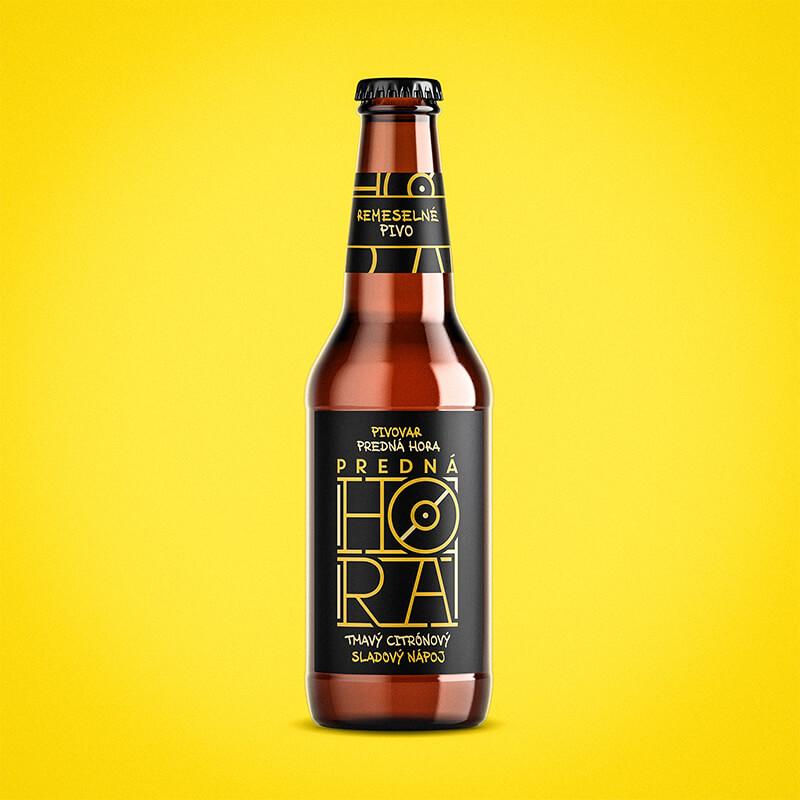 Etiketa na pivo, obalový dizajn SLADOVÝ NÁPOJ Predná Hora