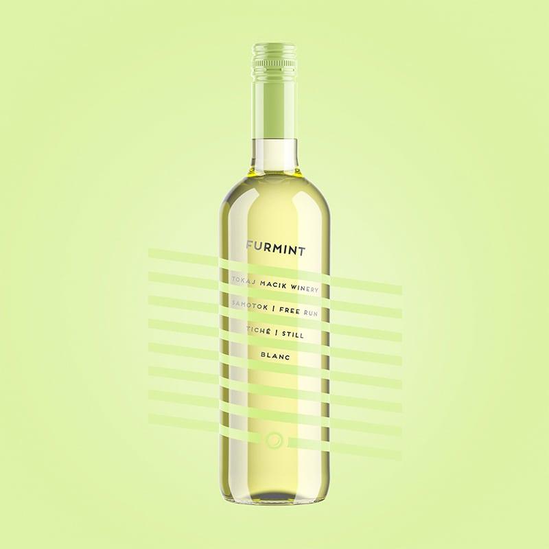 Etiketa na víno obalový dizajn Furmint free run TOKAJ MACIK WINERY