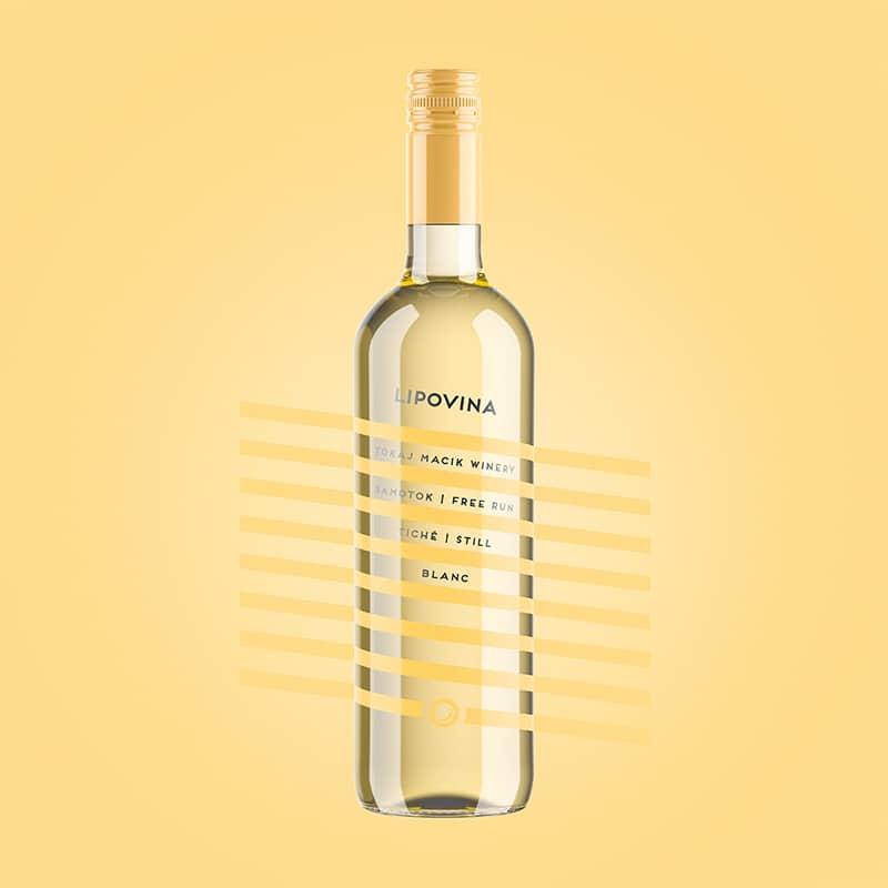 Etiketa na víno obalový dizajn Lipovina free run TOKAJ MACIK WINERY