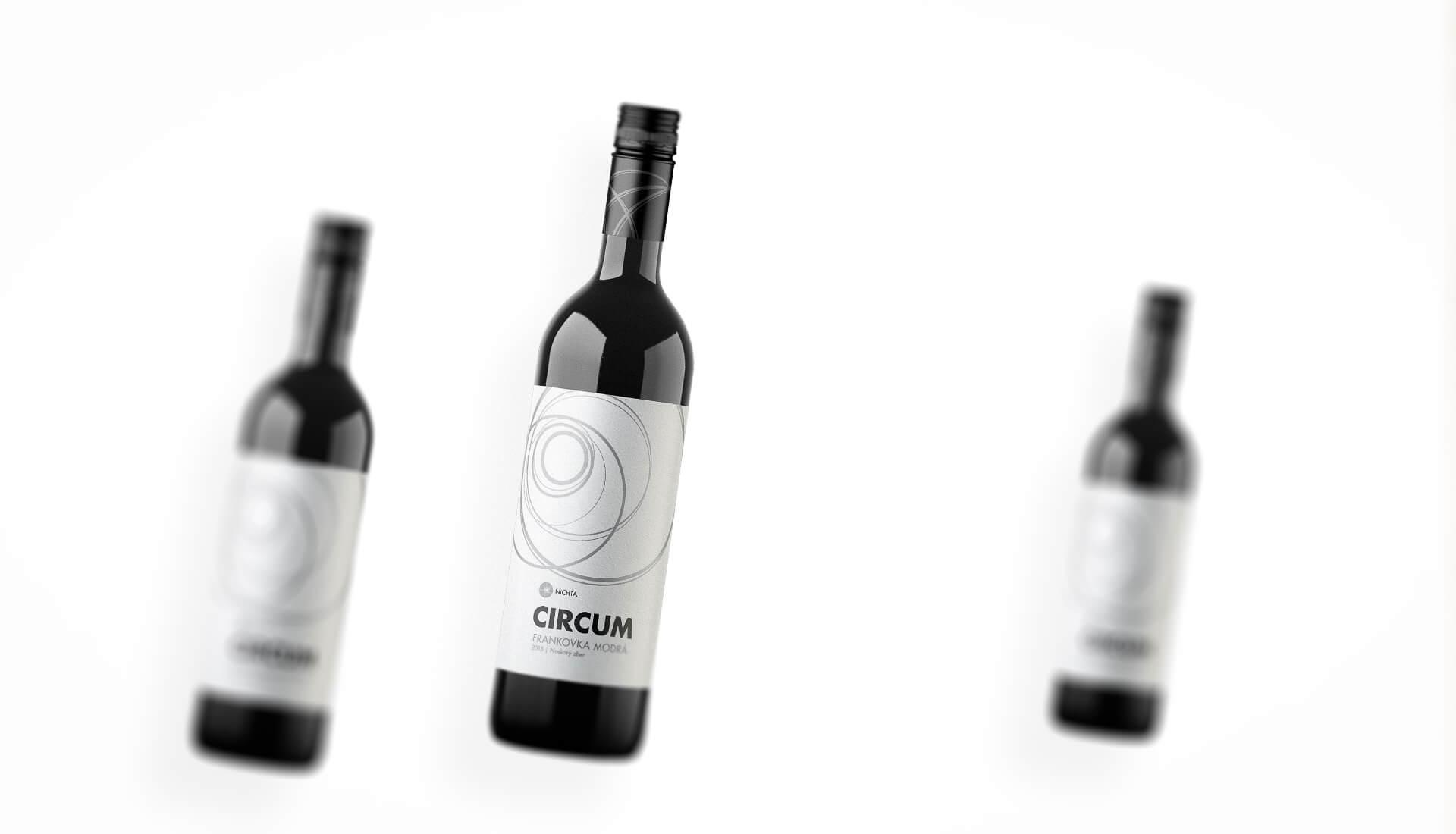 Etiketa na víno obalový dizajn NICHTA CIRCUM červené víno