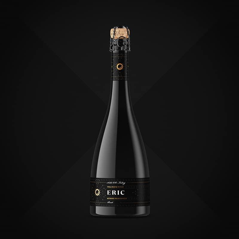 Etiketa na víno obalový dizajn sekt ERIC - TOKAJ MACIK WINERY