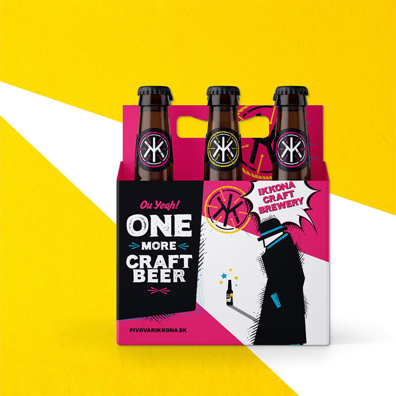 Obalový dizajn Six Pack - One More IPA pre remesený pivovar IKKONA