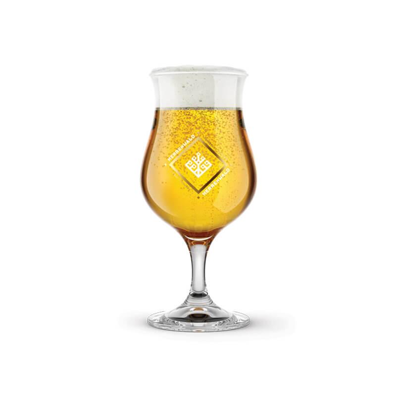 Pohár s potlačou loga pre remeselný pivovar HERRENWALD