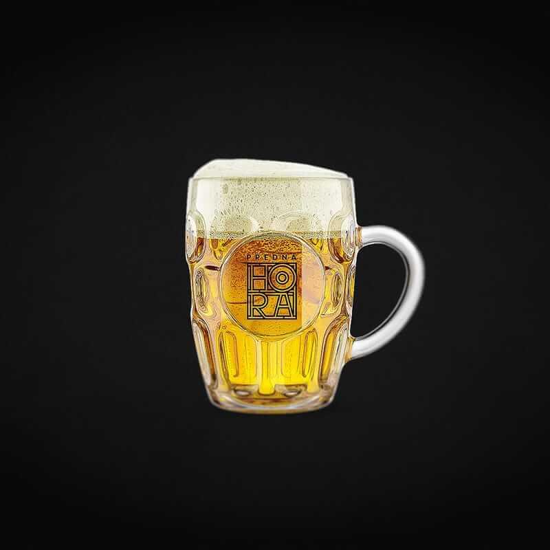 Potlač pohára s logom Predná hora