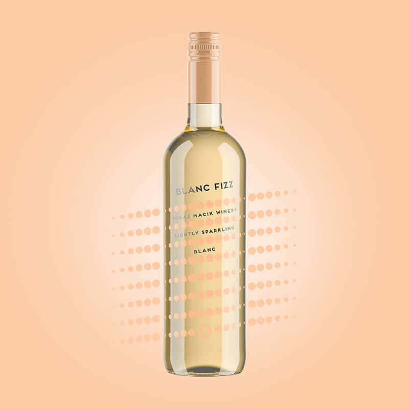 Wine label packaging design Blanc Fizz free run TOKAJ MACIK WINERY