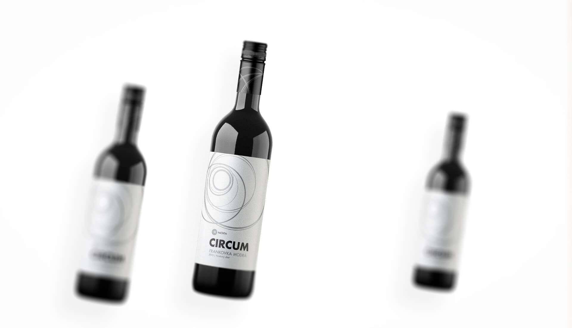 Wine label packaging design CIRCUM NICHTA winery red wines