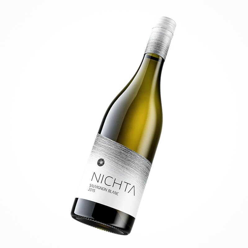Wine label packaging design NICHTA winery white wine